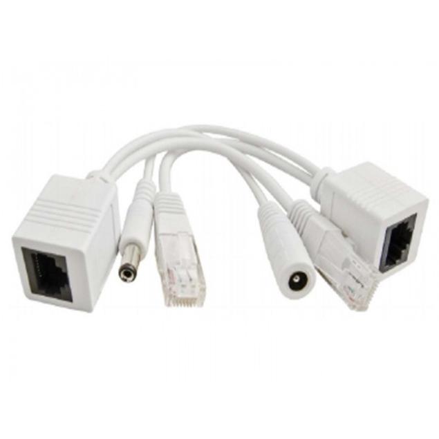 Εικόνα της P-POE1 Ethernet Power Cable Pulsar set of adapters with RJ45 or 2.1 / 5.5 connectors