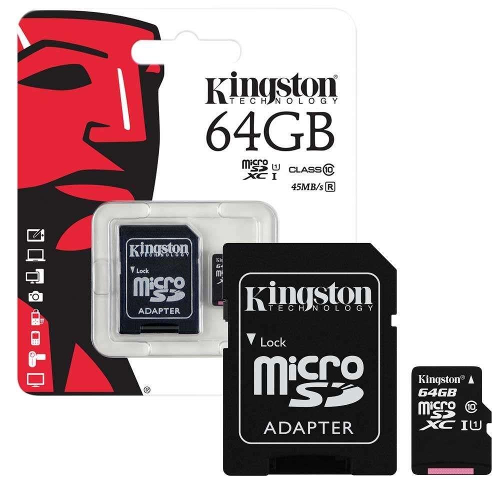 Εικόνα της KINGSTON Κάρτα Μνήμης 64GB MicroSD Class10