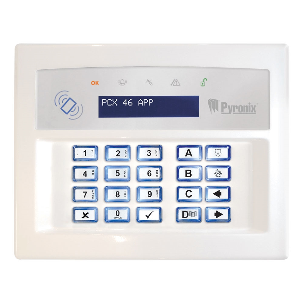 Picture of PCX-LCDP-W LCD Keypad (White) Pyronix