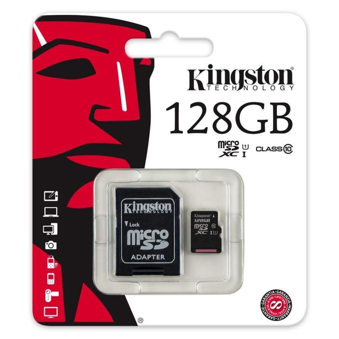 Εικόνα της Kingston Κάρτα Μνήμης 128GB MicroSD Class10