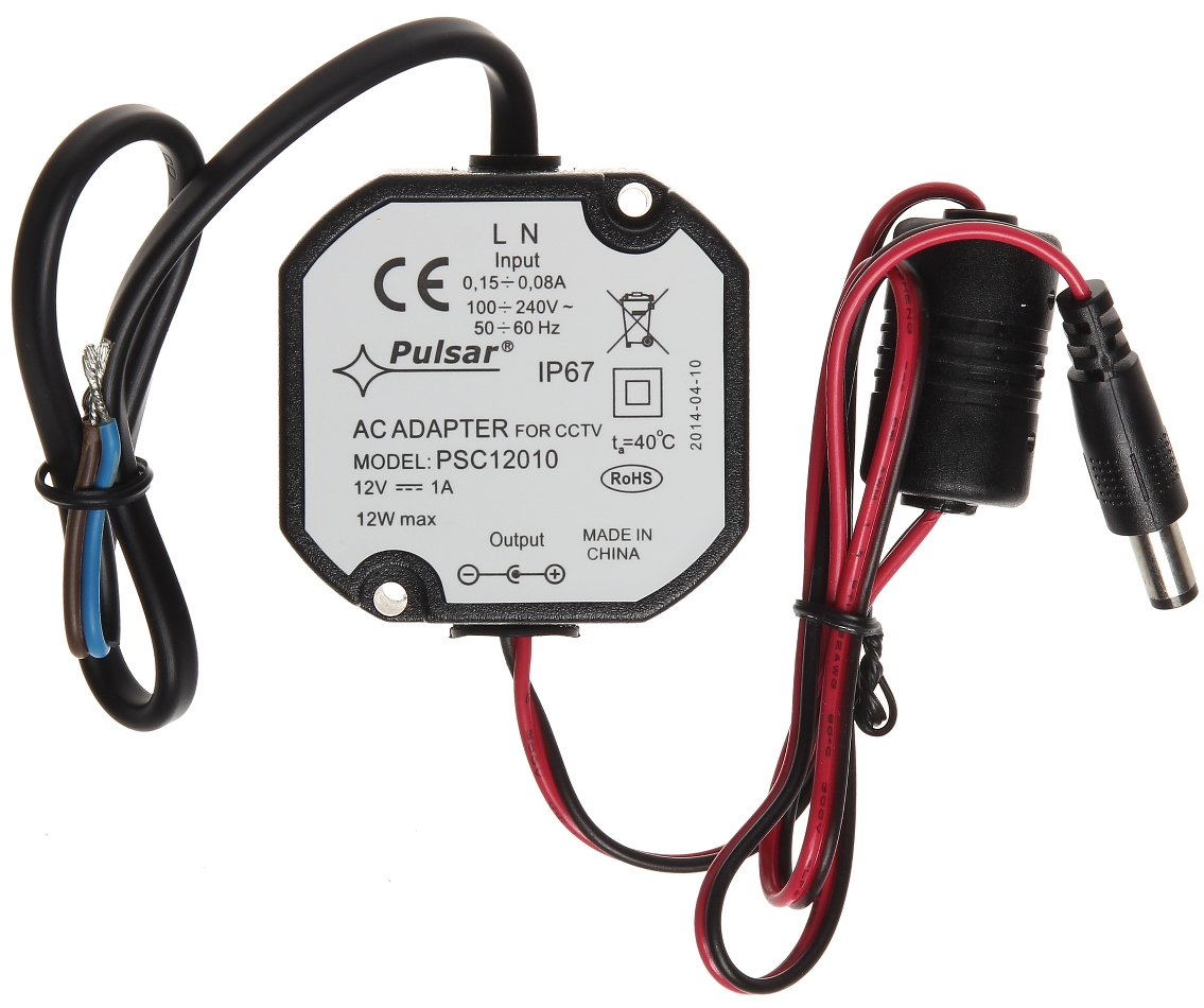 Picture of PSC12010 12V/1A/55MM Power Supply