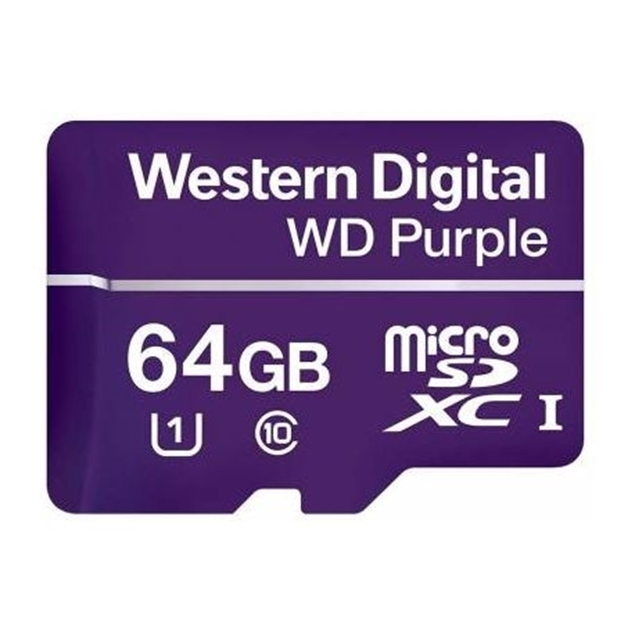 Picture of WDD064G1P0A 64GB WD Micro SD Card Western Digital