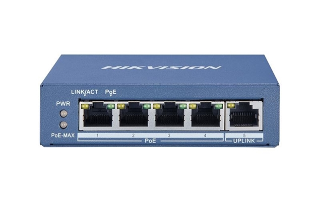 Εικόνα της DS-3E0505P-E 4-Port Gigabit Unmanaged PoE Switch Hikvision