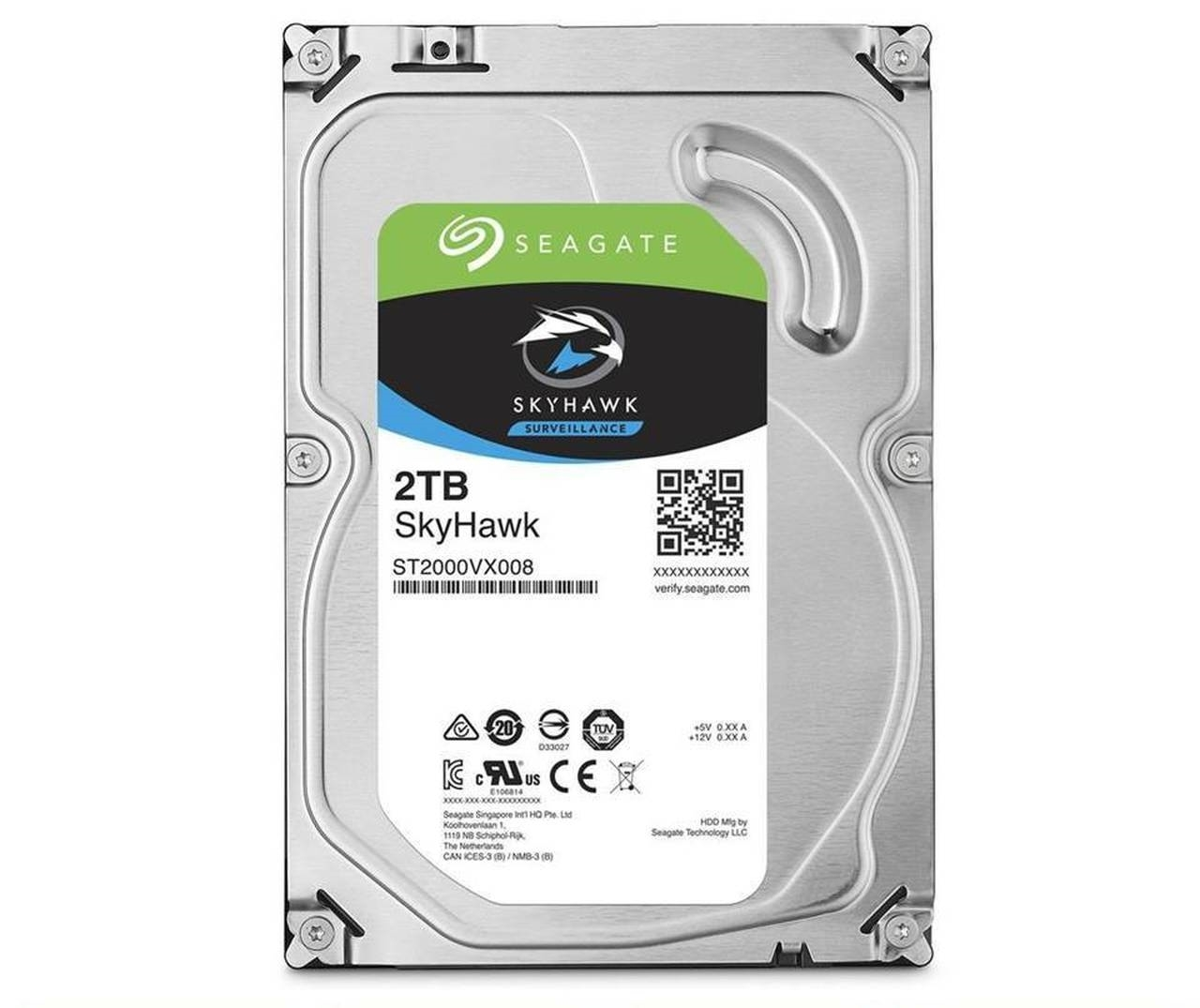 Picture of HARD DISC 3.5'' 2TB  ST2000VX008 SEAGATE SKYHAWK SATA3