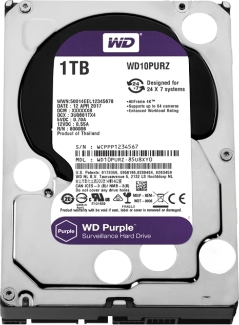 Picture of HDD WD PURPLE 1TB WD10PURZ