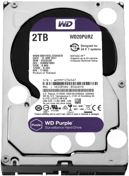 Picture of HDD WD PURPLE 2TB WD20PURZ