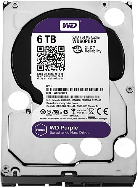 Picture of HDD WD PURPLE 6TB WD60PURZ