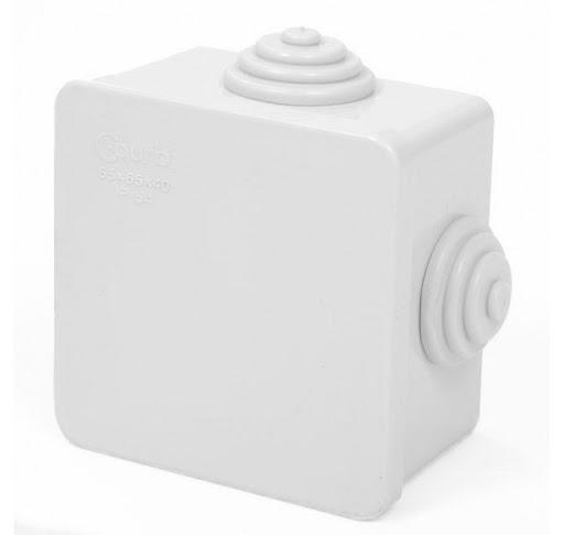 Εικόνα της Κουτί Διακλαδάσεως Στεγανό Τετράγωνο με Καπάκι 8Χ8cm
