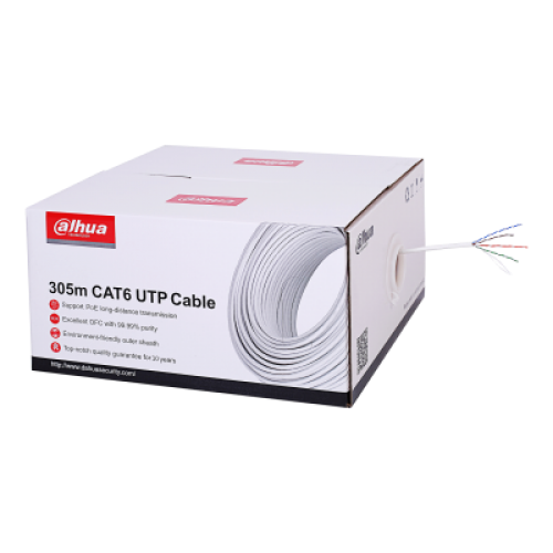Εικόνα της PFM923I-6UN-C 305m UTP CAT6 LSZH Cable White Dahua