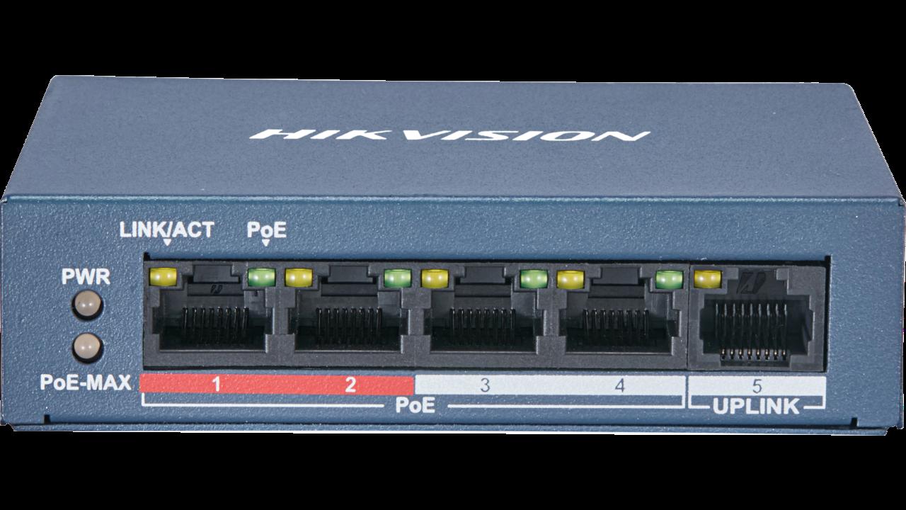 Εικόνα της DS-3E0105P-E (B)  4Channel POE switch Hikvision