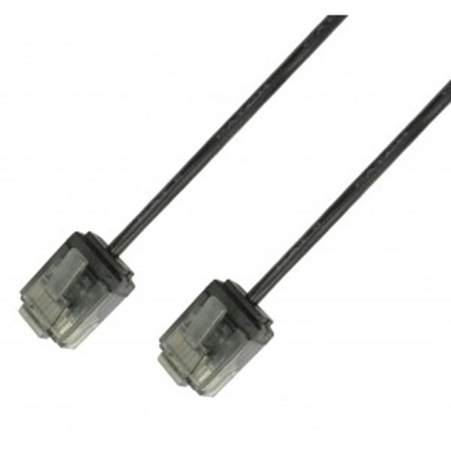 Picture of ICOC U6-SLIM-010BKT UTP Black 1 m Network Patch Copper Cable Ultra Slim Cat.6