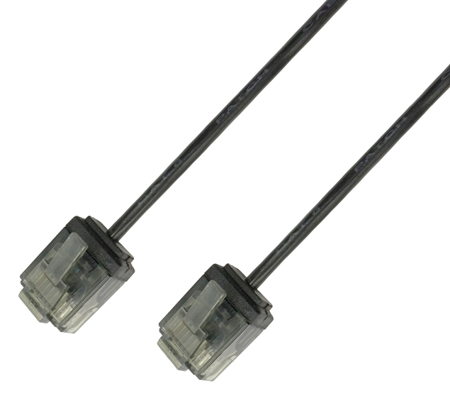 Picture of ICOC U6-SLIM-030BKT UTP Black 3 m Network Patch Copper Cable Ultra Slim Cat.6