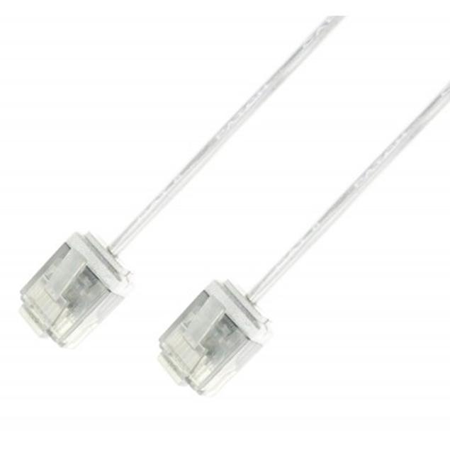 Picture of ICOC U6-SLIM-030T UTP White  3 m Network Patch Copper Cable Ultra Slim Cat.6