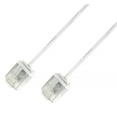 Picture of ICOC U6-SLIM-050T UTP White 5 m Network Patch Copper Cable  Ultra Slim Cat.6