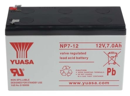 Picture of NP7-12  Yuasa Battery 12V-7Ah
