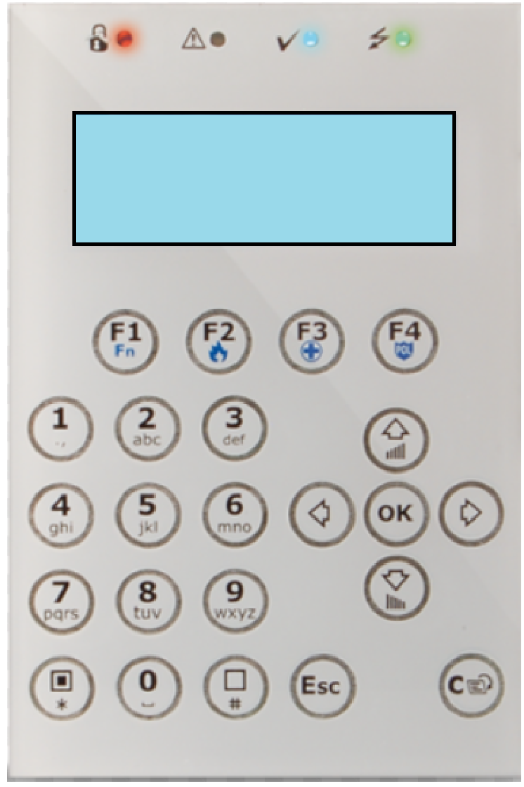 Εικόνα της CONCEPT/GB  Graphic LCD Keypad INIM