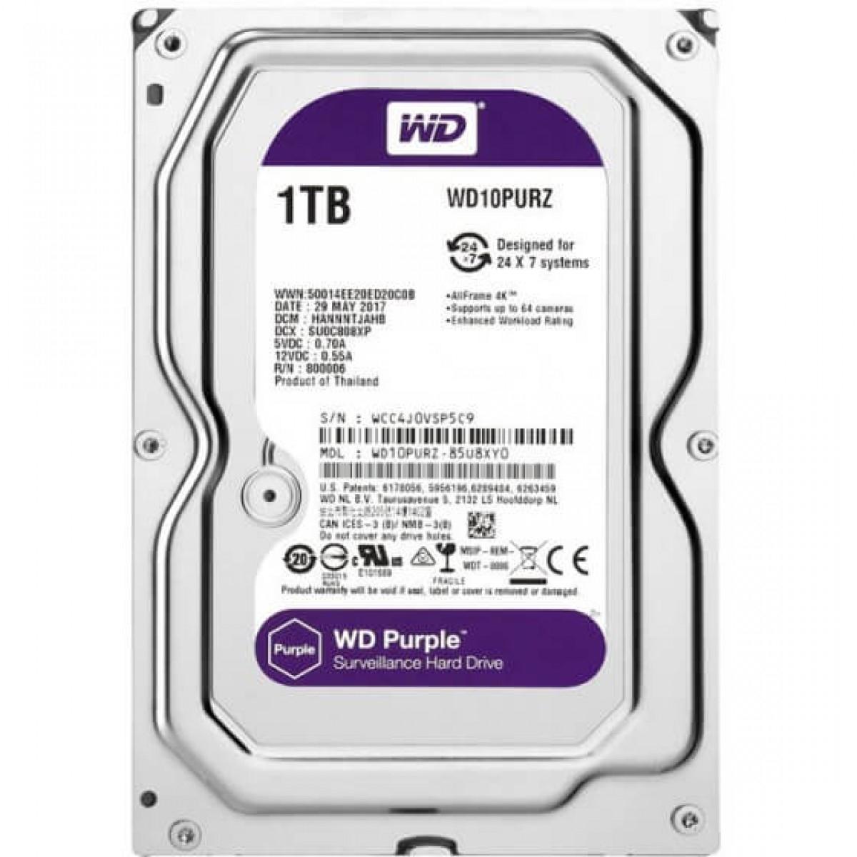 """Εικόνα της WD10PURZ  HDD 1TB 5400 3.5"""" SATA 3.0 Western Digital"""