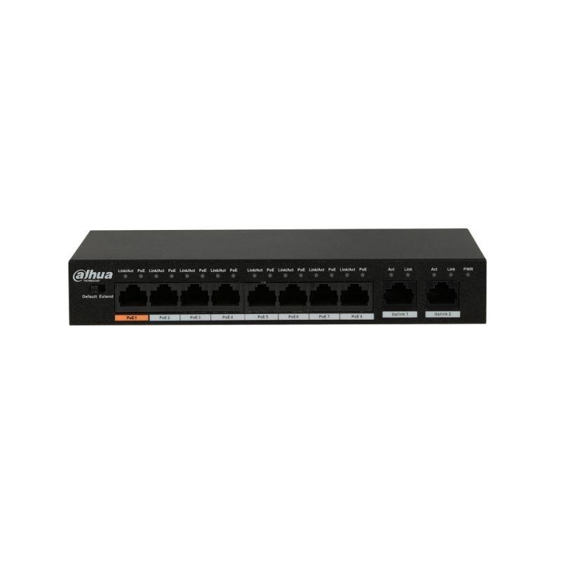 Εικόνα της PFS3010-8ET-96  10-Port Unmanaged Desktop Switch with 8-Port PoE Dahua
