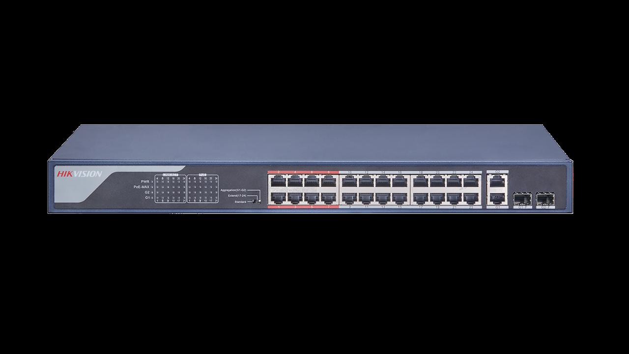 Εικόνα της DS-3E0326P-E(B)  24 Port Fast Ethernet Unmanaged POE Switch Hikvision