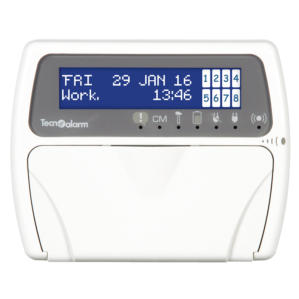 Picture of LCDPROX1 CONSOLE WITH LCD DISPLAY RFID KEY READER (PROXKEY) Tecnoalarm