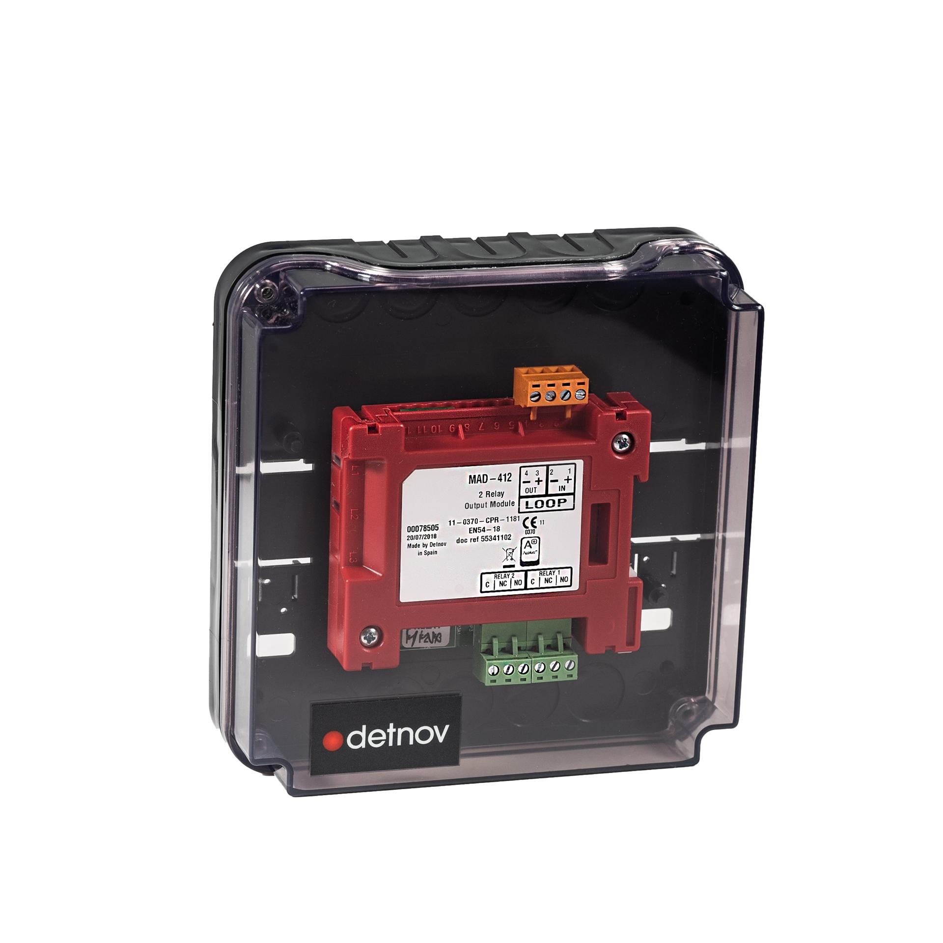 Picture of BOX-ONE  Διάφανο Κουτί Για Εγκατάσταση Ενός Module Σειρά Mad-400 Detnov